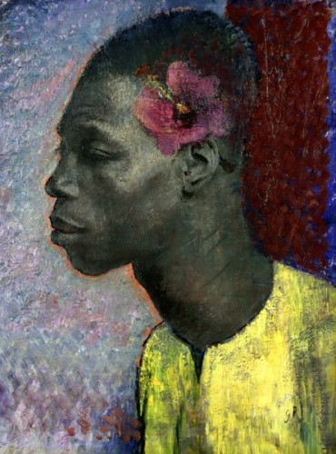 <em>Negro with Hibiscus</em>, 1932