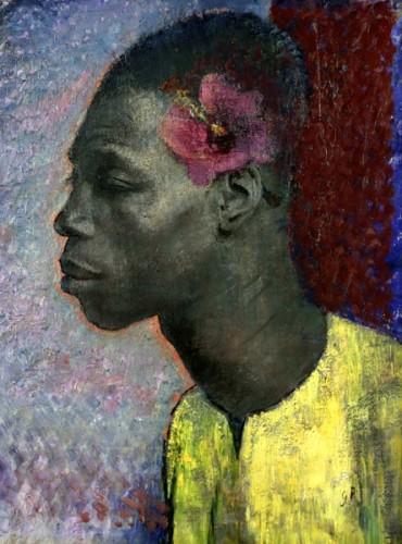<em>Negro with Hibiscus</em>, 1932