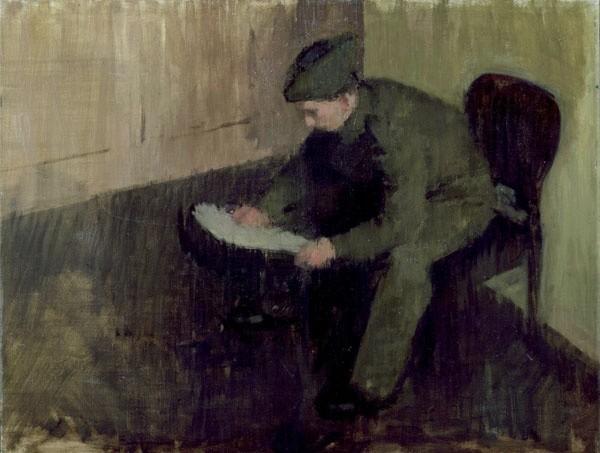 <em>Boy Reading</em>, c.1945