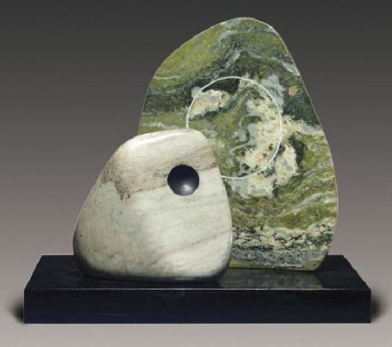 <em>Two Opposing Forms, Grey & Green</em>, 1969