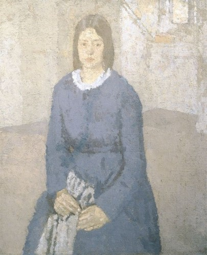 <em>Seated Girl with Sewing</em>, 1920