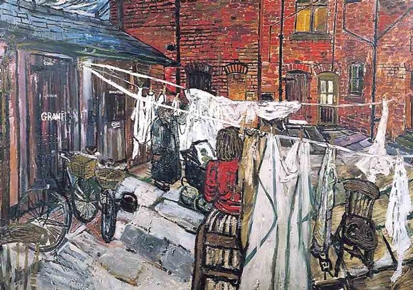 <em>Washday in the Tenements</em>, 1956