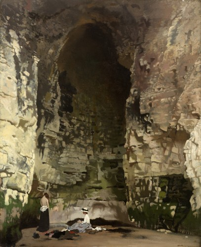 <em>Bathers, The Smugglers Cave</em>, 1908