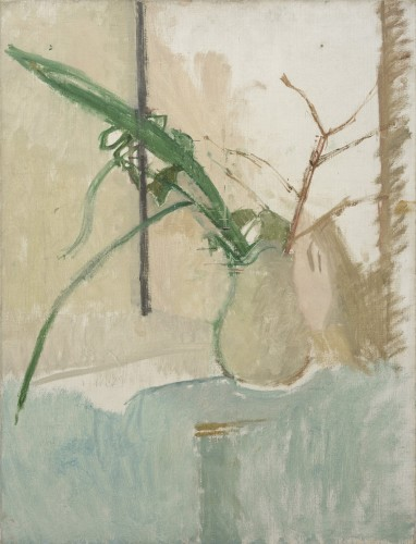 <em>Still Life with Green Leaves and Twigs in a White Jar</em>, c.1939