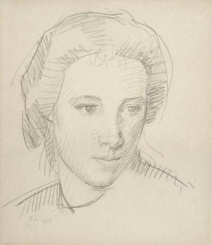 <em>Girl's Head</em>, 1912