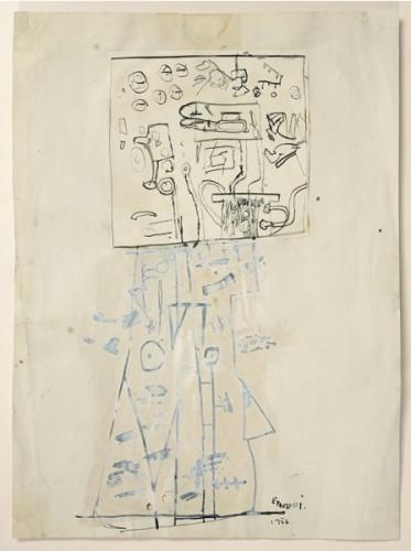 <em>Study for 10ft sculpture</em>, 1956