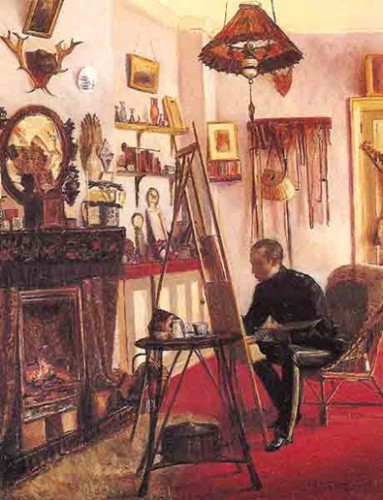 <em>Portrait of Captain Fisher at his Easel</em>, 1881