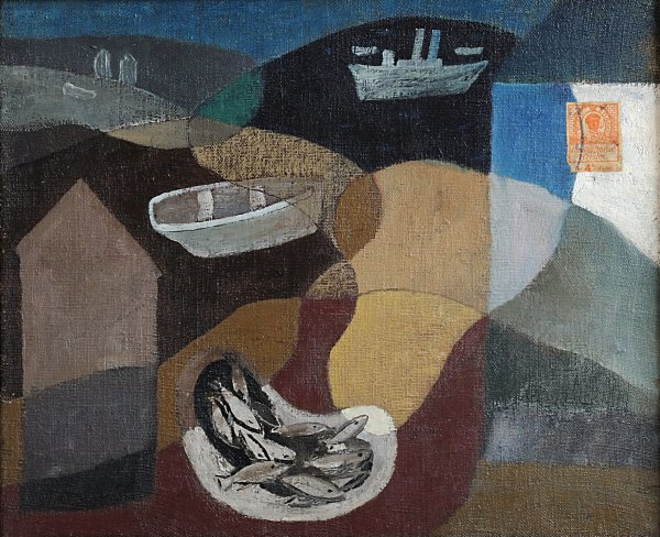 <em>Fishing Boats near Newhaven</em>, ca 1932