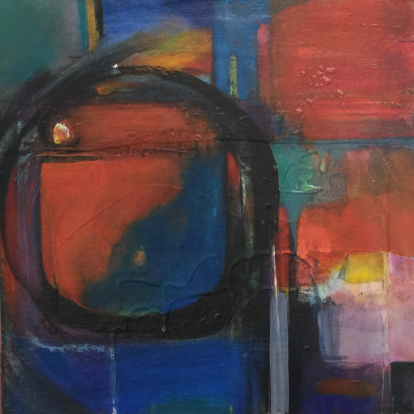 Michaela Justice - Abstract with Red & Blue