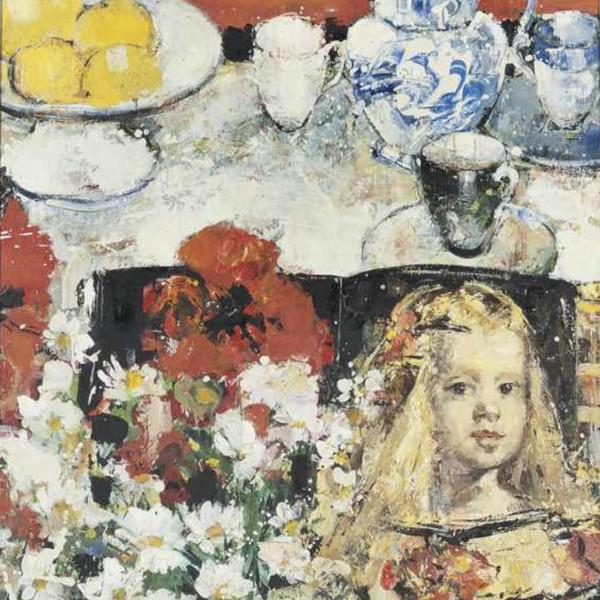 Peter McLaren - Still Life on orange ground