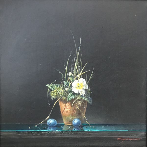 Bryan Hanlon - Primrose and Songthrush Eggs