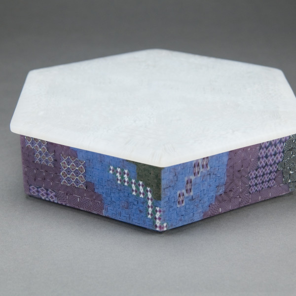 Yoko Yagi - Glass Murrine Hexagonal Box, 2009