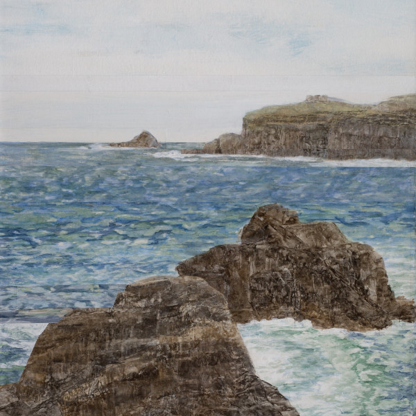 Gwen Davidson - Rocks and Wave Study, 2018