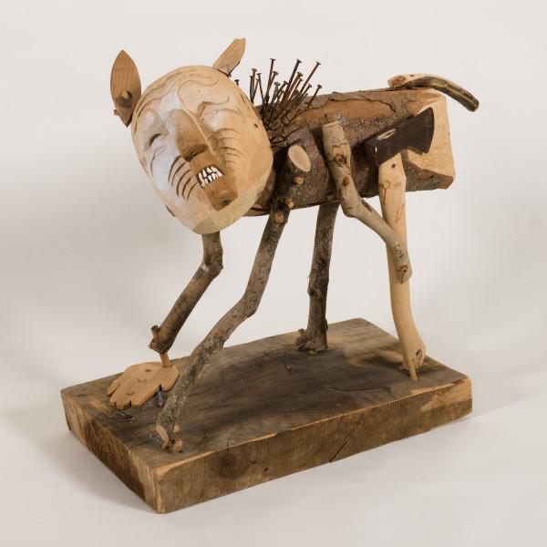 Rick Bartow - Man Acting Like Dog, 2009