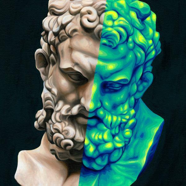 Jake Scharbach - Marble Head of Herakles, Imperial, Roman, 1st Century A.D. - Metropolitan Museum of Art, 2018