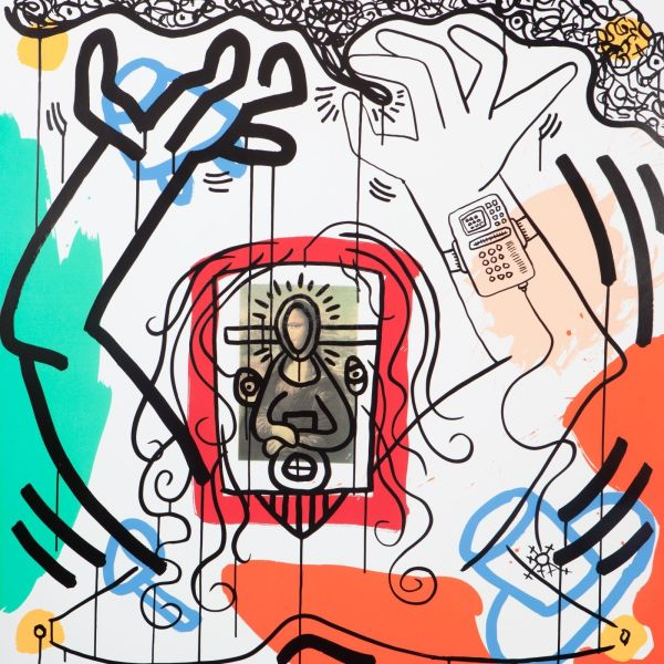 Keith Haring, Apocalypse Number 6 *SOLD*, 1988