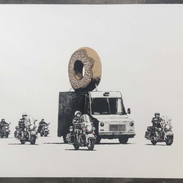 Banksy, Chocolate Donut *SOLD*, 2009