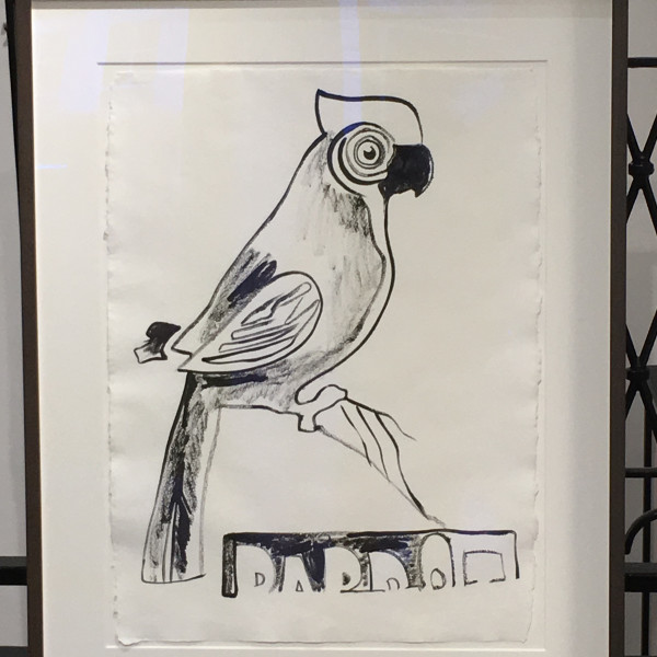 Andy Warhol, Parrot with Crest (UNIQUE DRAWING) *SOLD*, 1983