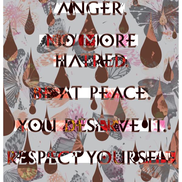 Iain Cadby, No More Anger, No More Hatred (Redacted silver pearl), 2017