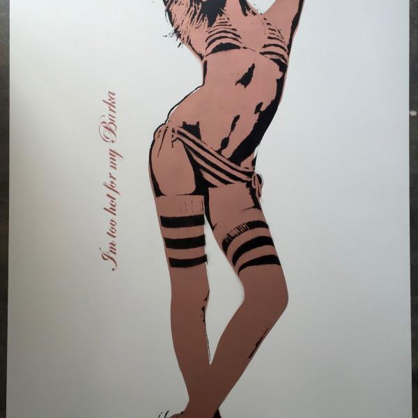 Bambi street artist, I am too Hot for my Burka (Bronze) , 2016