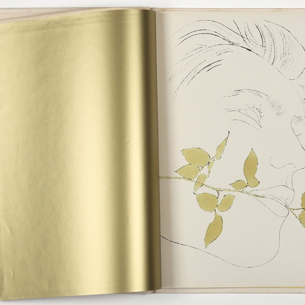 Andy Warhol, A Gold Book, IV,108, 1957