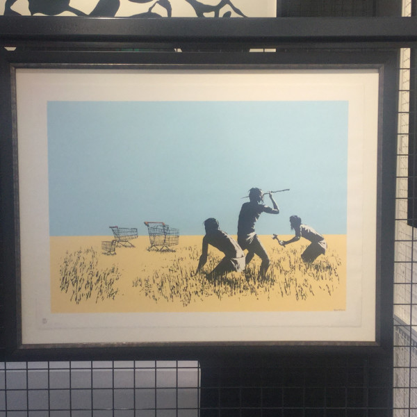 Banksy, Trolley Hunters (coloured) *SOLD*, 2007