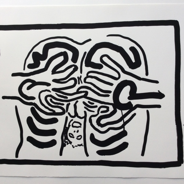Keith Haring, Bad Boys, Number 3, 1986, 1986