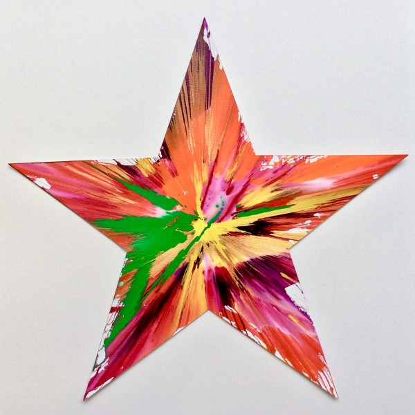Damien Hirst, Star Original Spin Painting , 2009