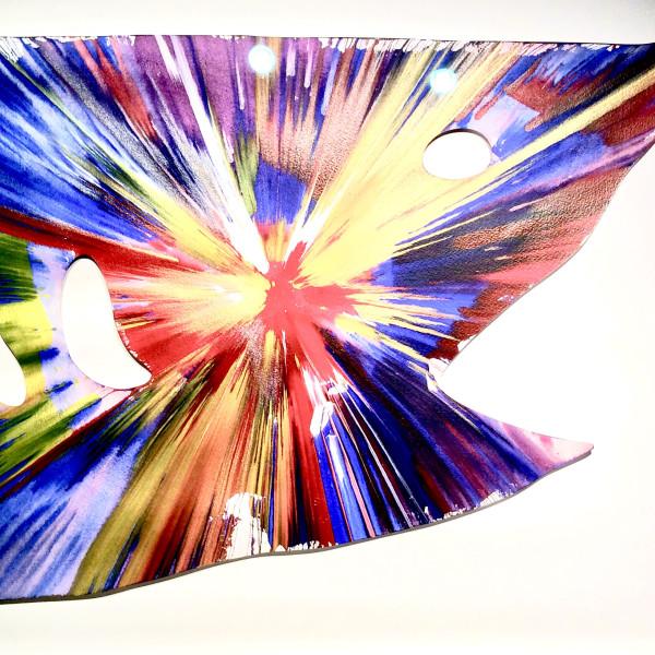 Damien Hirst, Shark, original Spin Painting, 2009