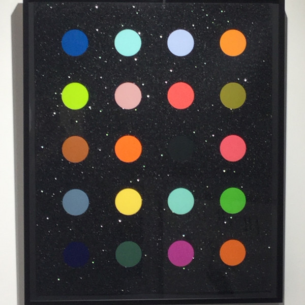 Damien Hirst, Methylamine-13C (Black) *SOLD*, 2014