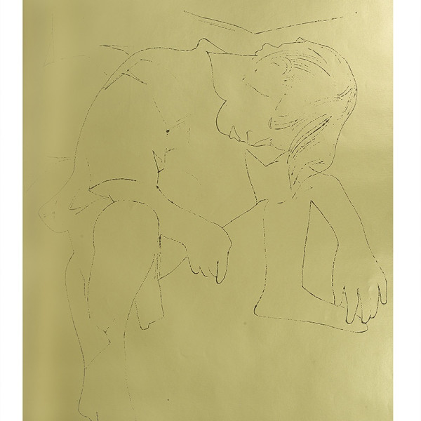 Andy Warhol, A Gold Book, IV.117, 1957