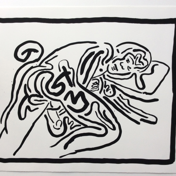 Keith Haring, BAD BOYS, Number 5, 1986, 1986