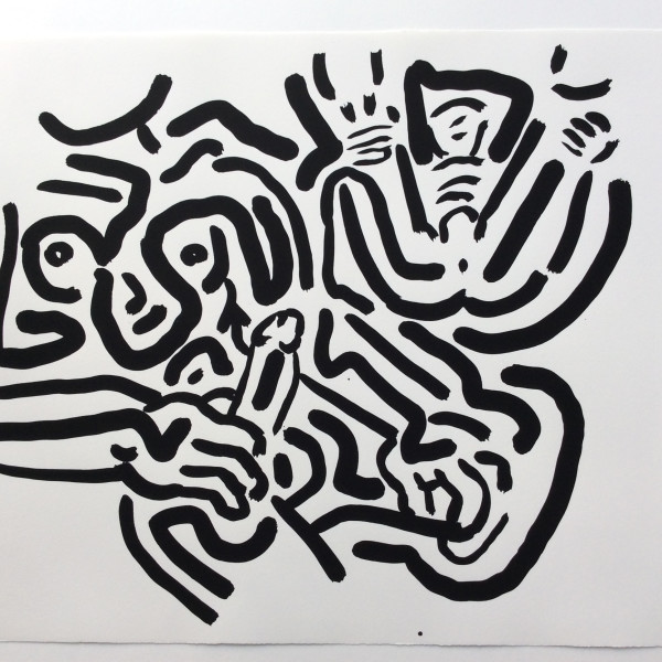 Keith Haring, Bad Boys, Number 2, 1986, 1986