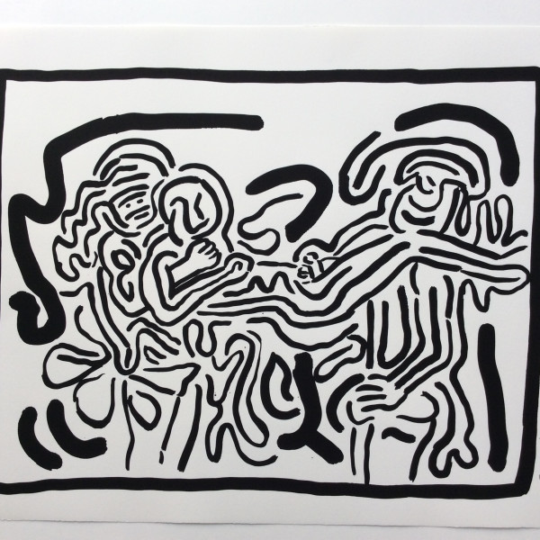 Keith Haring, Bad Boys, Number 1, 1986