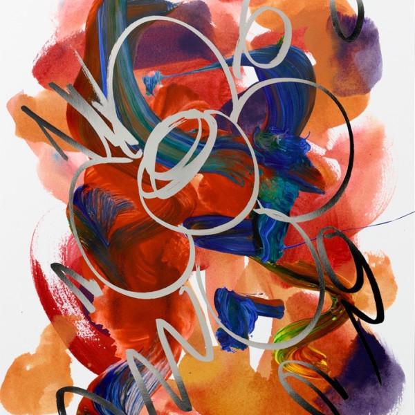 Jeff Koons, Flower Drawing (2019 RELEASE - LOW AVAILABILITY!), 2019