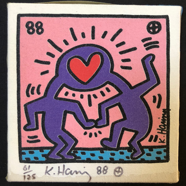 Keith Haring, Untitled canvas, 1988
