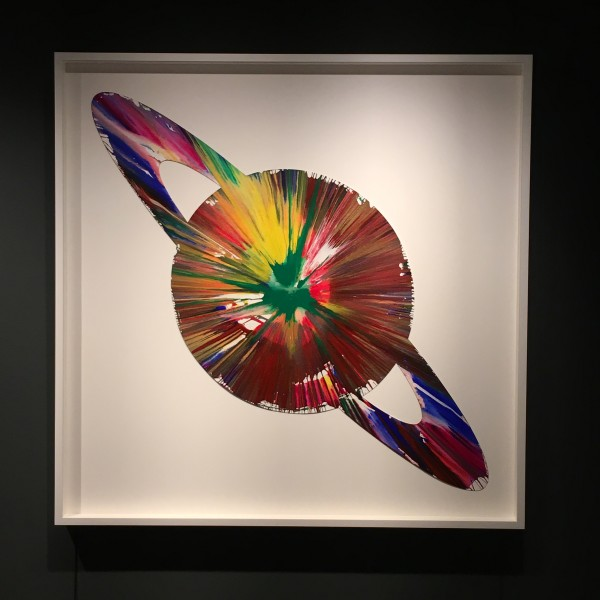 Damien Hirst, Planet (original spin painting on paper) Hand signed, authenticated, 2009