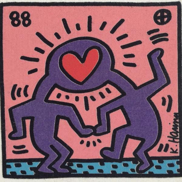 Keith Haring, Untitled, Heart canvas *SOLD*, 1988