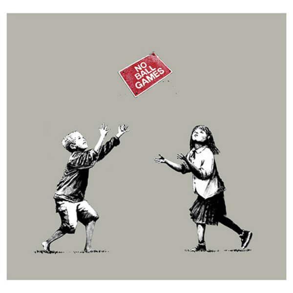 Banksy, No Ball Games (grey), 2009
