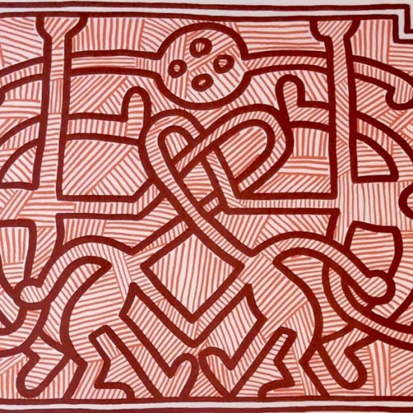 Keith Haring, Chocolat Buddah (No. 2), 1989