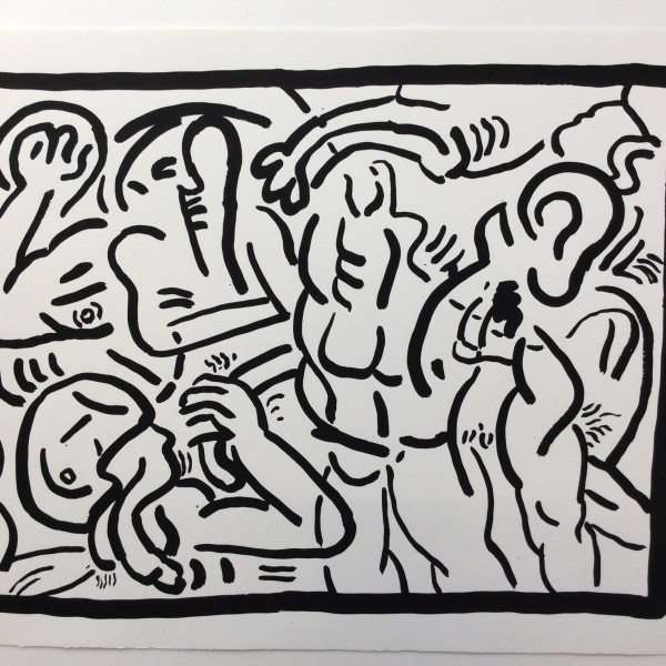 Keith Haring, BAD BOYS, number 4, 1986, 1986