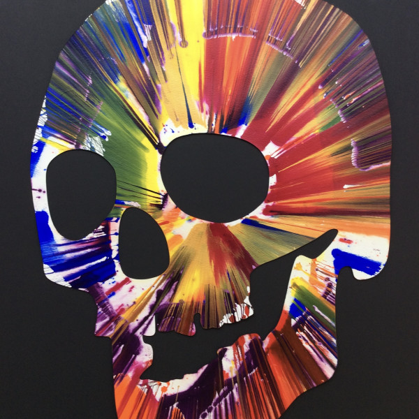 Damien Hirst, Skull spin painting *SOLD*, 2009