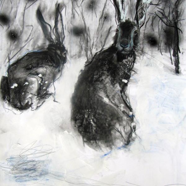 Margo Banks - Winter Hares
