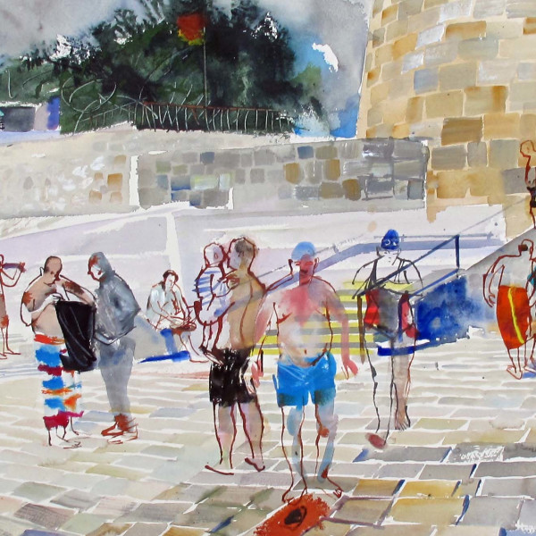 John Short - Bathing Scene, Seapoint, Co. Dublin, 2017