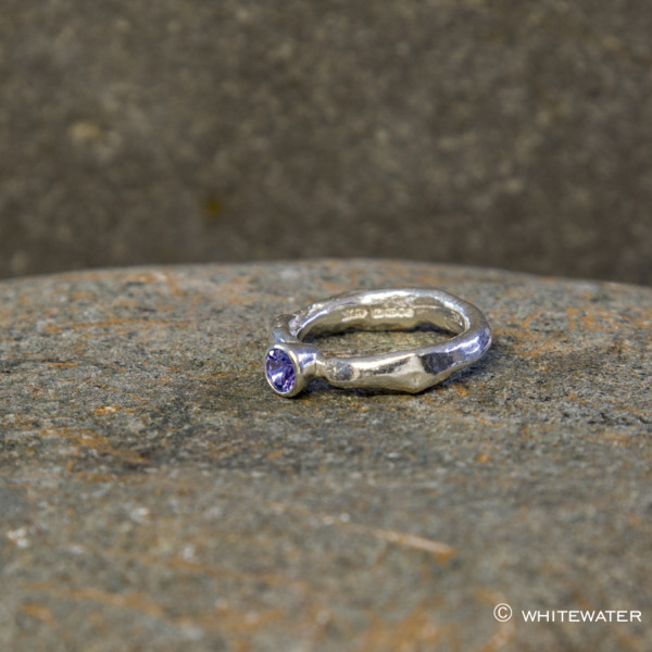Marsha Drew, Rockpool Rustic Ring with Tanzanite