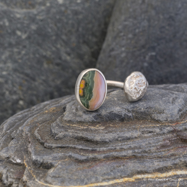 Marsha Drew, Pebble Ring with Jasper
