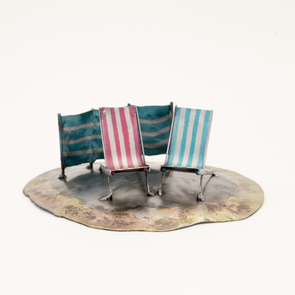 Kerry Whittle, Island, Two Chairs and Windbreak