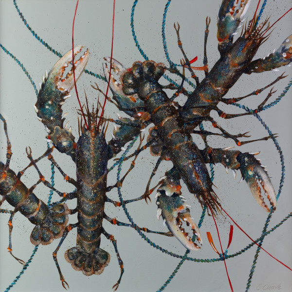 Caroline Cleave, Four Port Isaac Lobsters (Sunny Spring Day), 2019