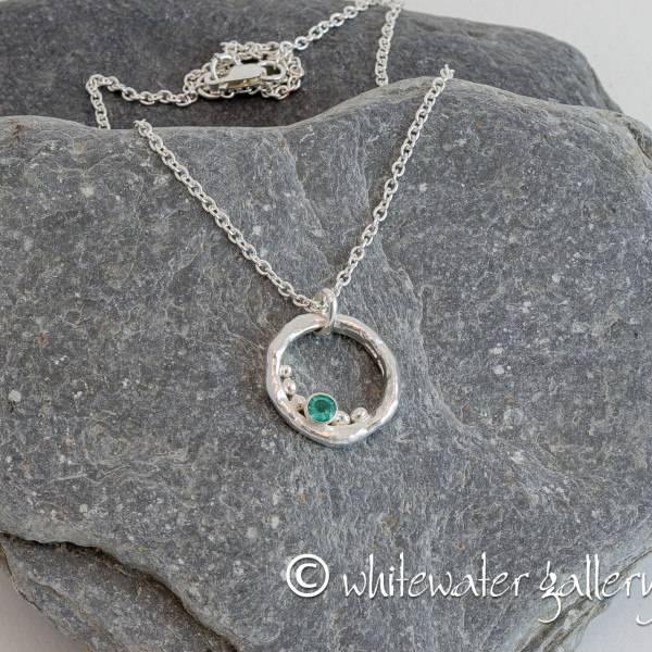 Marsha Drew, Rockpool Bubble Pendant with Emerald