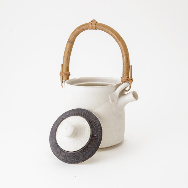 Hugh West, Teapot with Chattered Lid and Bamboo Handle